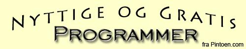 Nyttige og gratis programmer